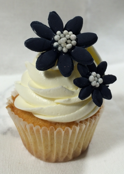 Coconut Mini Cupcake Flowers