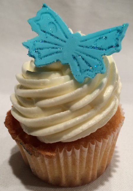 White chocolate Mini Cupcake butterfly