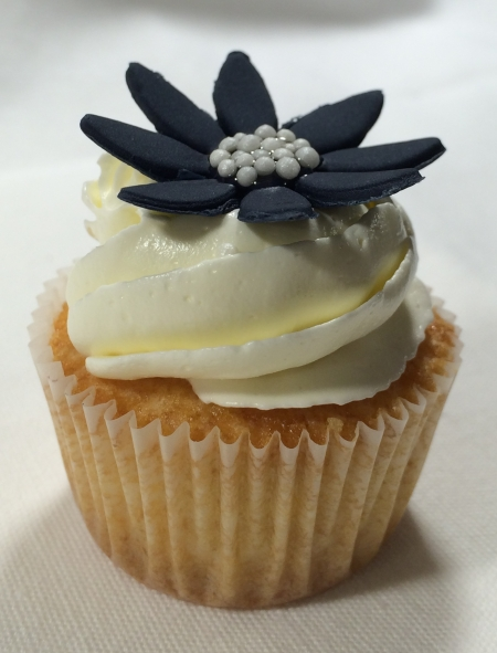 Coconut Mini Cupcake Flower